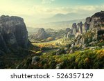 meteora monasteries in greece | Shutterstock . vector #526357129