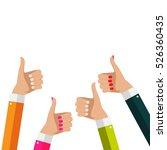 flat design thumbs up... | Shutterstock .eps vector #526360435