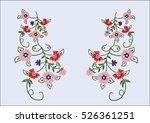 floral motif for fashion | Shutterstock .eps vector #526361251