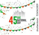 united arab emirates national... | Shutterstock .eps vector #526361809