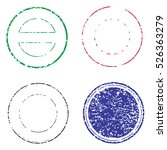blank postal stamps set... | Shutterstock .eps vector #526363279