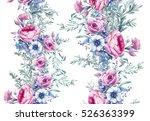 watercolor vintage floral... | Shutterstock . vector #526363399