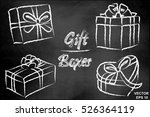 gift box. chalk board. icon.... | Shutterstock .eps vector #526364119