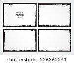 grunge frames set.abstract... | Shutterstock .eps vector #526365541