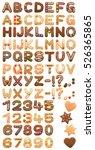 christmas cookies alphabet... | Shutterstock .eps vector #526365865