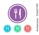 fork and knife icon colorful... | Shutterstock .eps vector #526367599