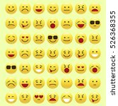 set of emoticons  icon pack ...   Shutterstock .eps vector #526368355