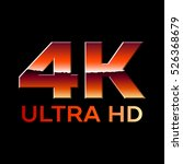 4k ultra hd format logo with... | Shutterstock .eps vector #526368679