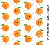 peach  vector seamless pattern... | Shutterstock .eps vector #526373035