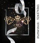 vip invitation  background with ... | Shutterstock .eps vector #526374361