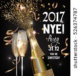 new year  eve party invitation... | Shutterstock .eps vector #526374787