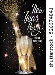 new year party invitation card... | Shutterstock .eps vector #526374841