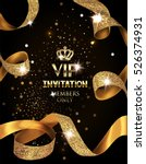 elegant vip invitation card... | Shutterstock .eps vector #526374931
