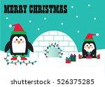 merry christmas penguins | Shutterstock .eps vector #526375285