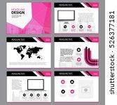 business template design set...   Shutterstock .eps vector #526377181
