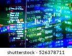 analyzing a technical graph... | Shutterstock . vector #526378711