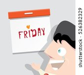 thanks god it's friday concept... | Shutterstock .eps vector #526382329