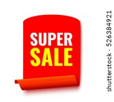 sale banner. red realistic... | Shutterstock .eps vector #526384921