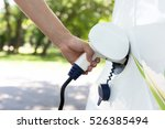 charging battery of an electric ... | Shutterstock . vector #526385494