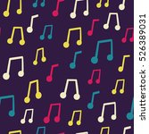 vector seamless pattern with... | Shutterstock .eps vector #526389031