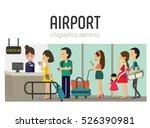 airport  | Shutterstock .eps vector #526390981