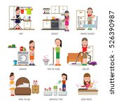 maid set | Shutterstock .eps vector #526390987