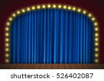 stage with blue curtain | Shutterstock .eps vector #526402087