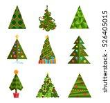 set of christmas tree vector... | Shutterstock .eps vector #526405015