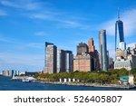manhattan skyline with new... | Shutterstock . vector #526405807
