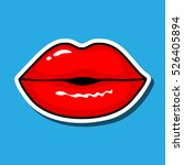 lips kiss. vector patch ... | Shutterstock .eps vector #526405894