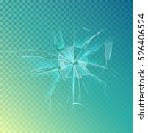 mirror or broken glass  cracked ... | Shutterstock .eps vector #526406524