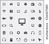 monitor icon. device icons... | Shutterstock .eps vector #526407085