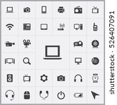 laptop icon. device icons... | Shutterstock .eps vector #526407091
