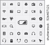 battery icon. device icons... | Shutterstock .eps vector #526407121