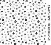 stars monochrome doodle cartoon ... | Shutterstock .eps vector #526408969