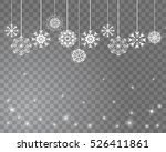 snowflakes decoration isolated...