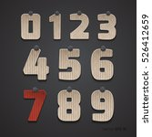 the set of numbers of cardboard.... | Shutterstock .eps vector #526412659