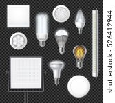 realistic led lamps of... | Shutterstock .eps vector #526412944