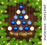 merry christmas. christmas tree ...   Shutterstock .eps vector #526413469