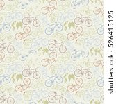 bicycle seamless pattern.travel ... | Shutterstock .eps vector #526415125