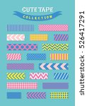 cute patterned scotch tapes...   Shutterstock .eps vector #526417291