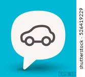 pictograph of car | Shutterstock .eps vector #526419229