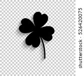 clover with four leaves   black ... | Shutterstock .eps vector #526420075