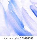 violet indigo white watercolor... | Shutterstock . vector #526420531