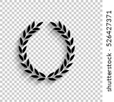laurel wreath   black vector... | Shutterstock .eps vector #526427371