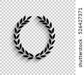 laurel wreath   black vector... | Shutterstock .eps vector #526427371