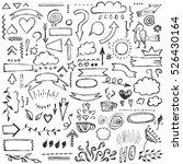 hand drawn vector set of...   Shutterstock .eps vector #526430164