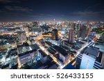 panorama of bangkok at night ... | Shutterstock . vector #526433155