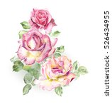 rosebush. pattern from pink... | Shutterstock . vector #526434955