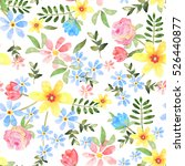 floral seamless pattern with... | Shutterstock . vector #526440877